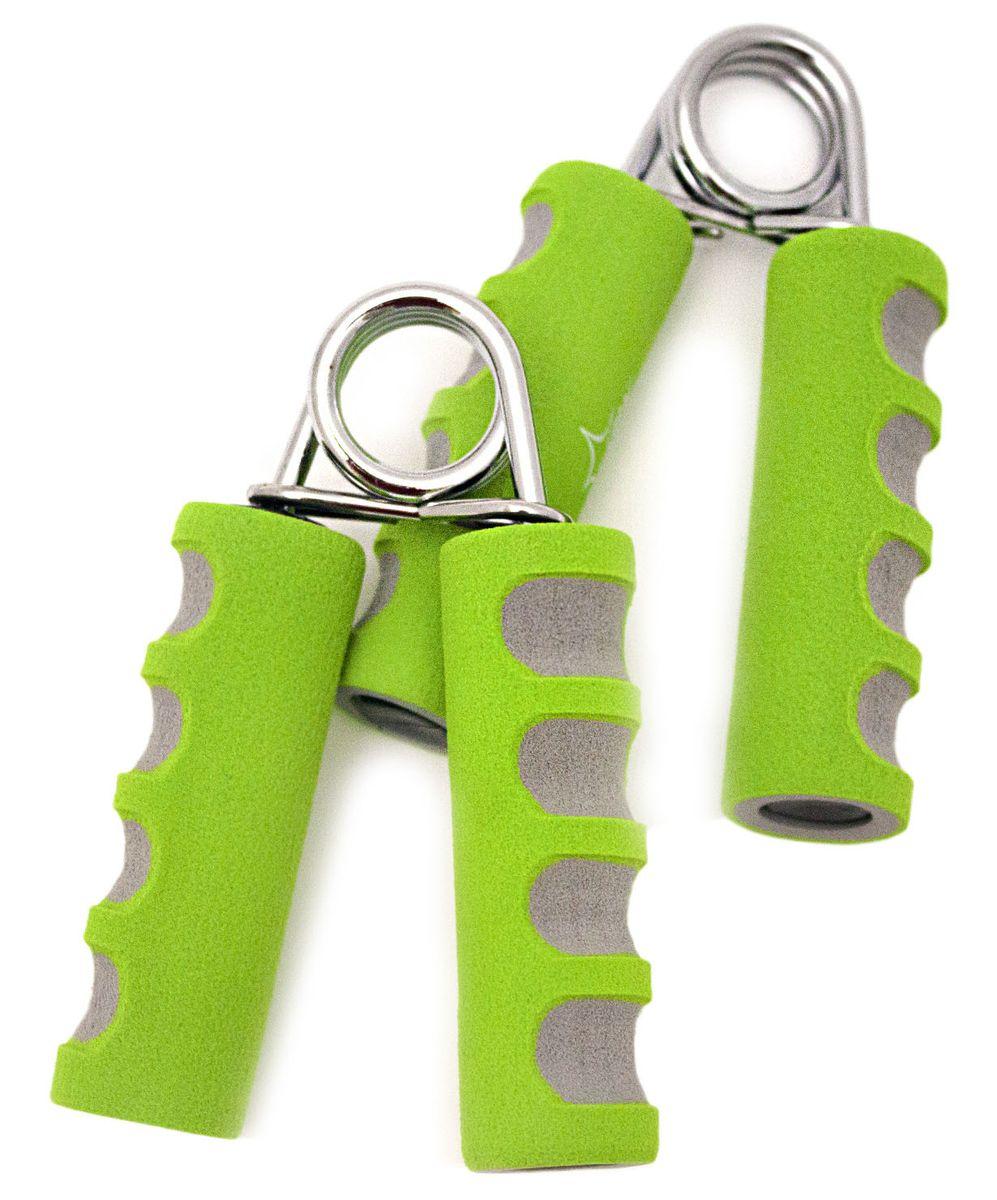 Эспандер кистевой Starfit ES-304, цвет: зеленый, серый, 2 штУТ-00007335Кистевой эспандер ES-304 предназначен для укрепления и тренировки мышц пальцев, рук и запястий. Эспандер изготовлен из прочного металла. Ручки выполнены из мягкого неопрена. Пользуясь тренажером, вы сможете всегда держать ваши мышцы в тонусе. В набор входят два эспандера.