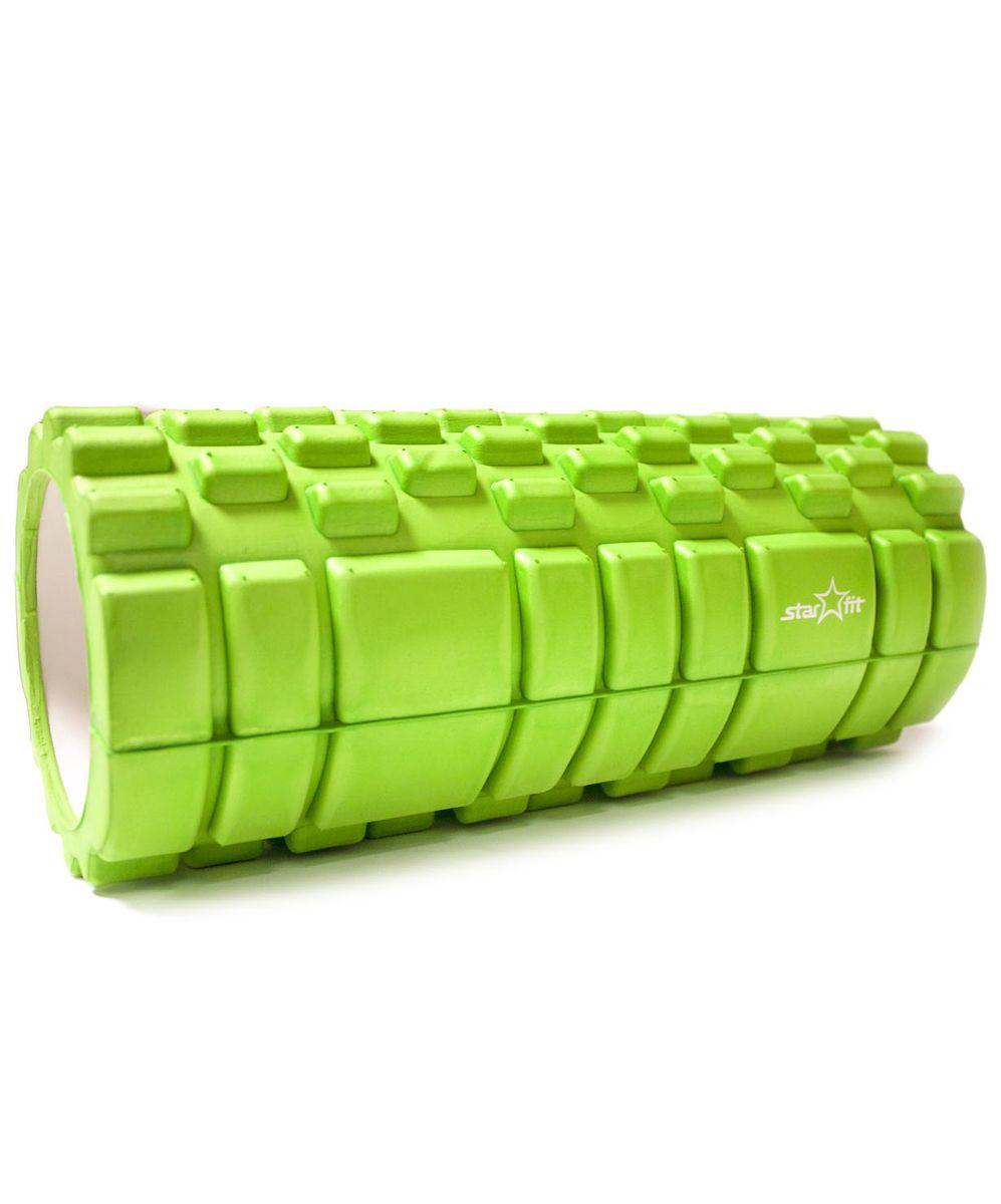 Ролик массажный Star Fit, цвет: зеленый. FA-503УТ-00007657Ролик массажный FA-503, зеленый - это ролик для занятий гимнастикой и фитнесом, укрепляет брюшной пресс, стимулирует растяжку длинных мышц спины. Ролик для пресса гимнастический повышает тонус мышц брюшного пресса, рук, ног, бедер и плеч, улучшает рельеф и форму живота.