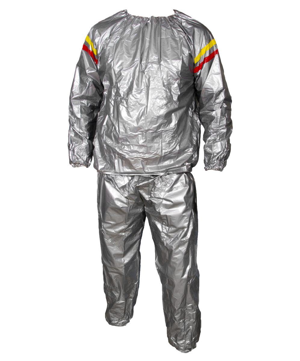 Костюм-сауна Starfit, цвет: серый. Размер XL. SW-101УТ-00007373Костюм-сауна SW-101, серый - это костюм-сауна, который предназначен для тех людей, кто хочет сбросить вес в кратчайшие сроки. Костюм подходит и для женщин, и для мужчин. Верхняя и нижняя части костюма могут применяться как вместе, так и по отдельности. Сделанный из уникальной ткани, он задерживает тепло, создавая эффект сауны. При использовании этого костюма пропадает лишний вес, калории сжигаются в несколько раз быстрее, чем во время обычных физических нагрузок. Для полноценного эффекта, костюм необходимо использовать при регулярных физических нагрузках.