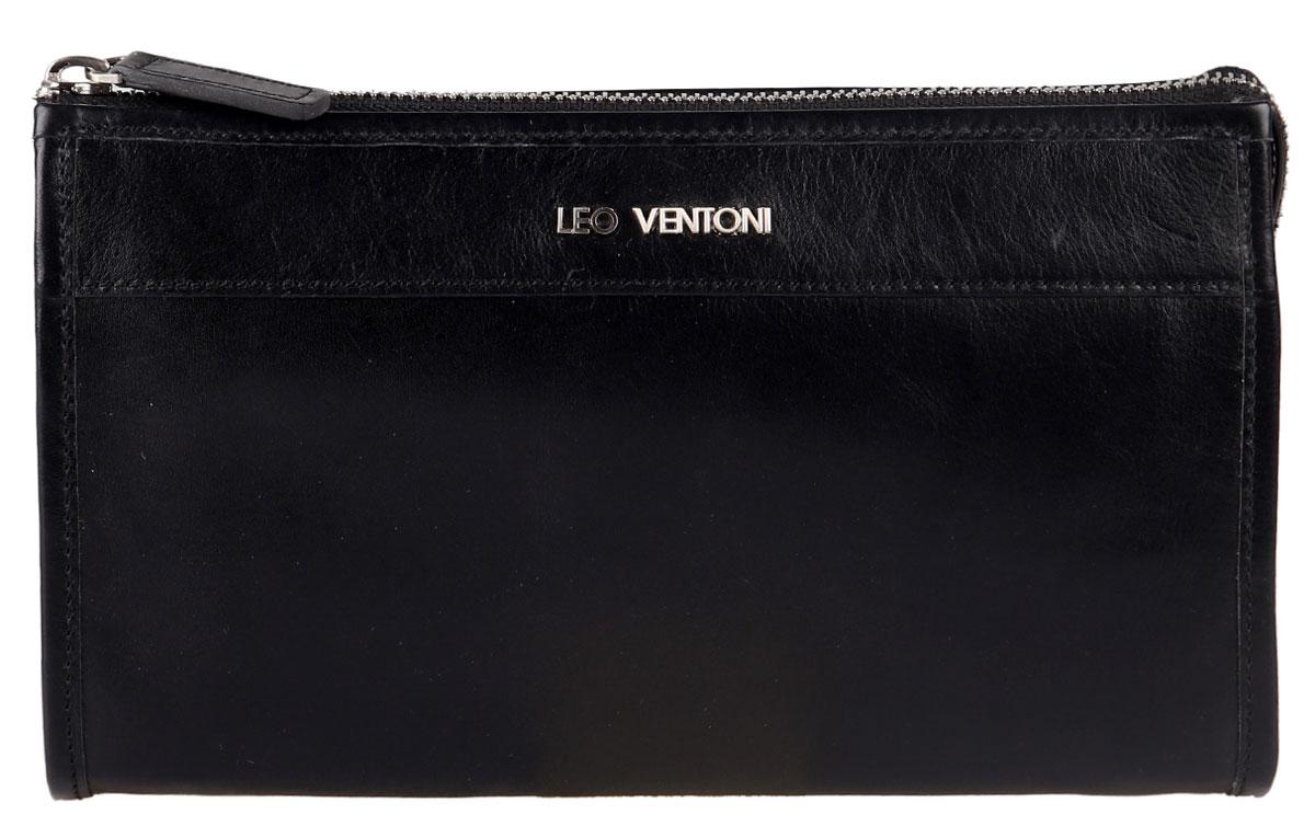 Барсетка мужская Leo Ventoni, цвет: черный. 03002247 барсетка мужская