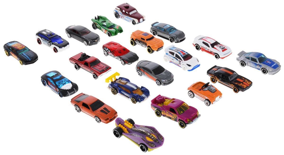 Hot Wheels Набор машинок 20 штH7045_DPG53Набор машинок Hot Wheels представляет собой 20 реалистичных авто. Модели отличаются высоким качеством исполнения и детализации. Корпус моделей выполнен из металла, стекла изготовлены из прочного прозрачного пластика. Главной задачей является выдержать активное использование в играх ребенка. Колесики машинок вращаются. Ваш ребенок часами будет играть с набором, придумывая различные истории. Порадуйте его таким замечательным подарком!