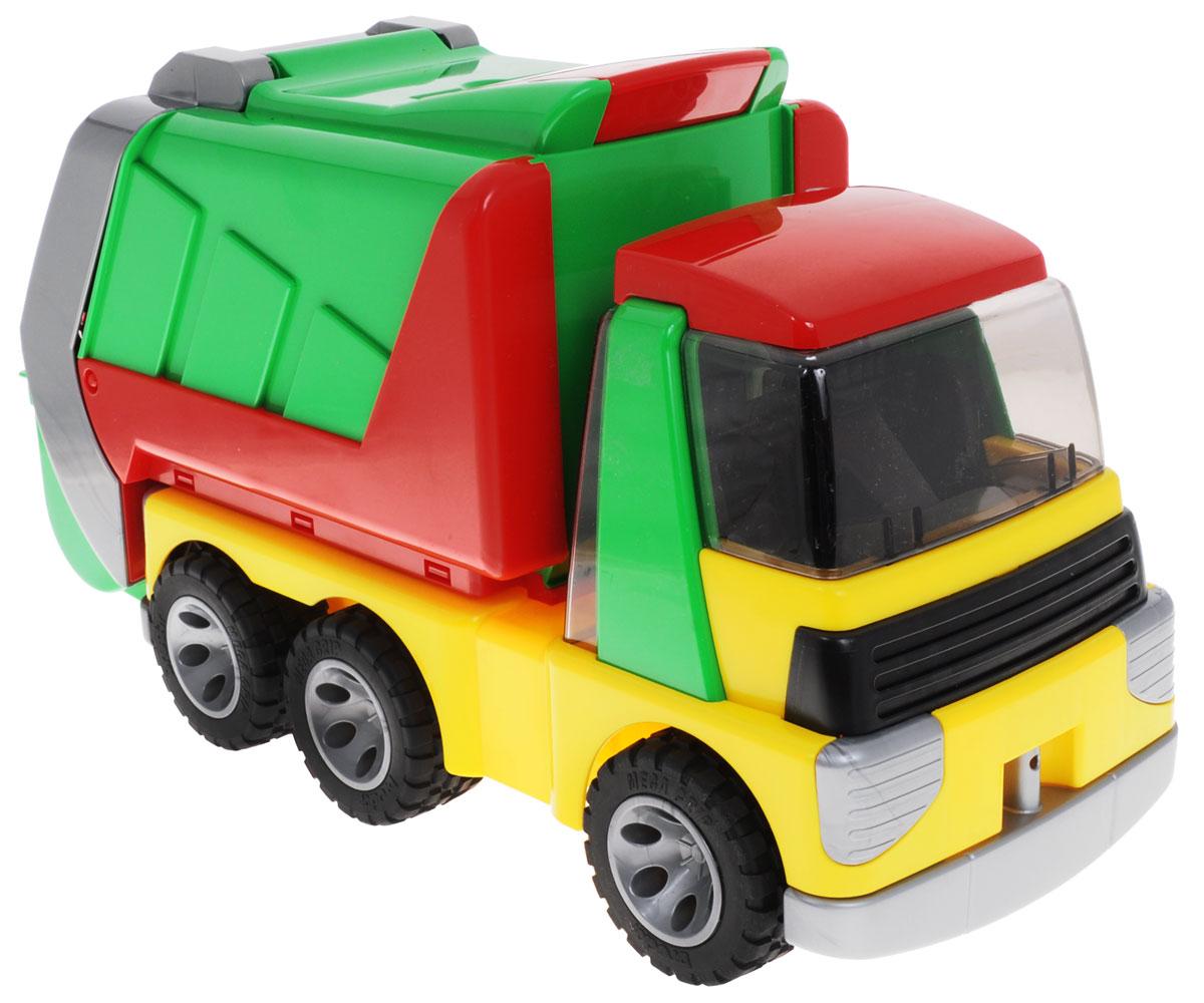 Bruder Мусоровоз Roadmax20-002Мусоровоз Bruder Roadmax является надежной и интересной игрушкой из серии спецтехники. Имеет практически все реалистичные функции. Водительская кабина сделана из прозрачного материала для доступа внутрь; колеса оснащены мягкими покрышками для более комфортной езды; мусорный контейнер можно вынуть и установить обратно, имеет устойчивую позицию; у контейнера можно открыть заднюю крышку для разгрузки мусора; кузов можно поднять и выдвинуть. Ребенок может использовать мусоровоз как для игры в одиночку, так и для ролевых игр со сверстниками. С данной машиной ваш ребенок не будет скучать, а будет увлечен интересной игрой, которая развивает внимательность, воображение и поднятие хорошего настроения.