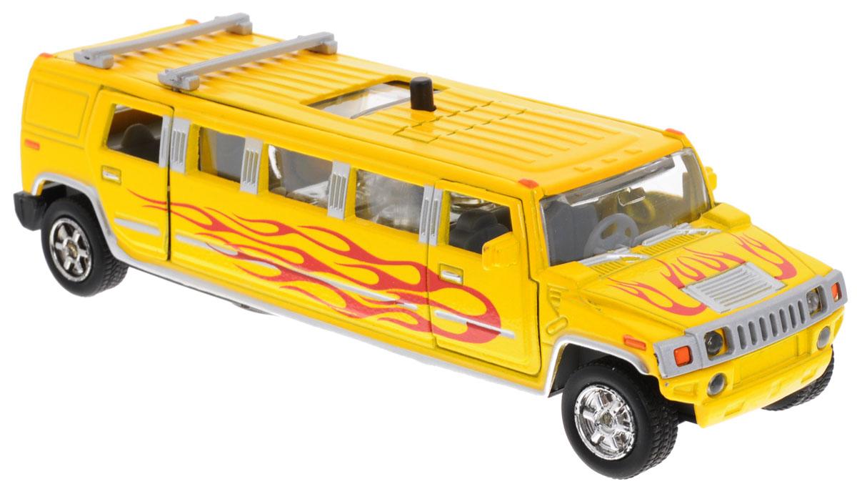 ТехноПарк Машинка инерционная Лимузин цвет желтыйCT10-051-1_желтыйМашинка инерционная ТехноПарк Лимузин - реалистично смоделированная игрушка для маленьких автолюбителей. Передние и задние двери машины, а также люк открываются; колеса прорезинены. При нажатии кнопки на крыше лимузина салон начинает подсвечиваться и воспроизводится веселая мелодия или характерные для машинки звуки. Игрушка оснащена инерционным ходом. Машинку необходимо отвести назад, затем отпустить - и она быстро поедет вперед. Машинка подойдет для игры как дома, так и на улице. Выполнена из качественных материалов, которые не вредят здоровью ребенка. Рекомендуется докупить 3 батарейки напряжением 1,5V типа LR41 (товар комплектуется демонстрационными).
