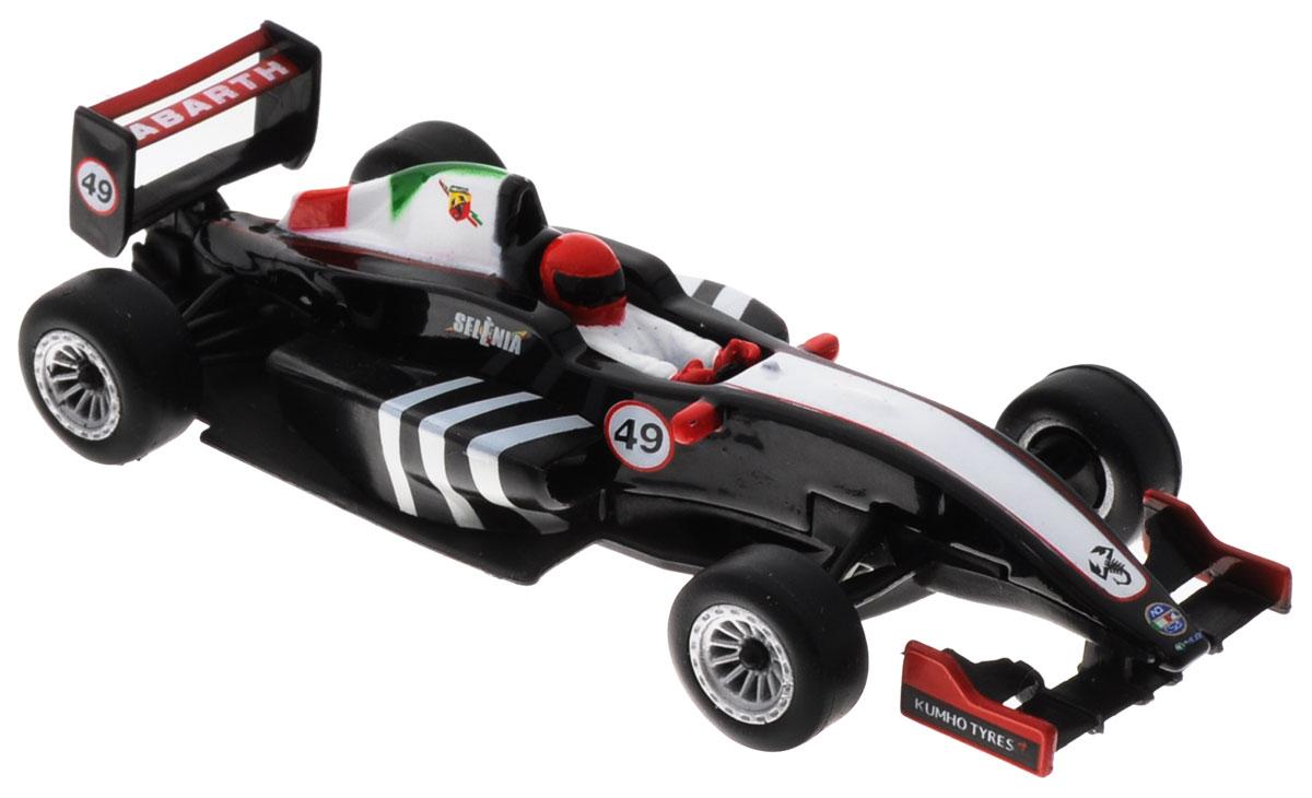 Bburago Модель автомобиля Formula Abarth цвет черный белый красный