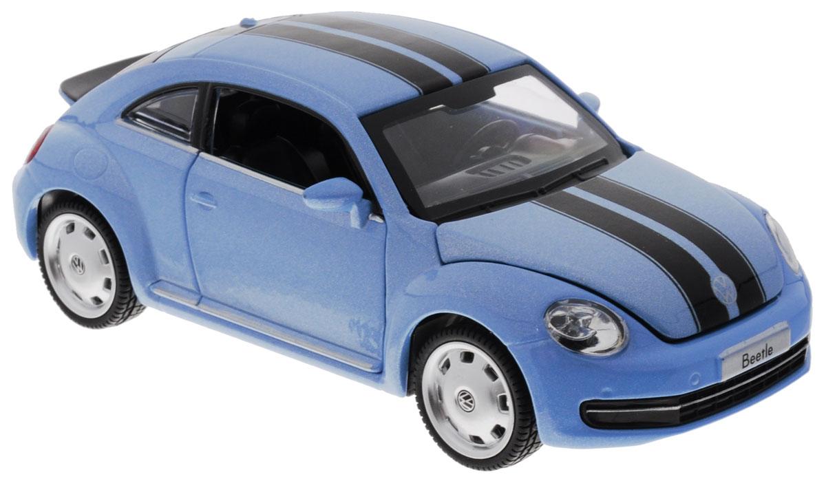 MSZ Модель автомобиля Volkswagen BeetleCP-68308-BМодель автомобиля MSZ Volkswagen Beetle, выполненная из пластика и металла, станет любимой игрушкой вашего малыша. Машина представляет уменьшенную копию реального авто. Дверцы, капот и багажник открываются. Машина оснащена звуковыми и световыми эффектами. Игрушка оснащена инерционным ходом. Машинку необходимо отвести назад, затем отпустить - и она быстро поедет вперед. Прорезиненные колеса обеспечивают надежное сцепление с любой поверхностью пола. Ваш ребенок будет часами играть с этой машинкой, придумывая различные истории. Порадуйте его таким замечательным подарком! Рекомендуется докупить 3 батарейки типа AG13 (товар комплектуется демонстрационными).