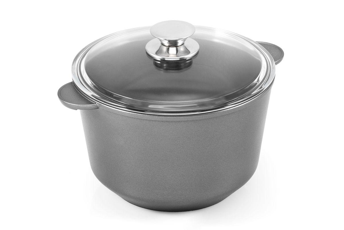 Кастрюля Виктория с крышкой, с антипригарным покрытием. Диаметр 18 смКуПс3,0-КсКаждая хозяйка знает, какое влияние на вкусовые качества готового блюда оказывает посуда, в которой оно готовится. Поэтому, выбирая нашу посуду, вы всегда можете быть уверены в том, что она поможет вам приготовить ваши любимые блюда вкусно и прослужит долго. Каждая сковорода изготавливается из литого корпуса, благодаря которому исключается возможность ее деформации и увеличивается срок службы антипригарного покрытия. У наших сковород гладко проточенное дно, которое обеспечивает идеальный контакт с конфоркой плиты, способствуя экономии энергоносителей и ускоряя процесс приготовления пищи. Утолщенное до 7 мм дно и улучшенное теплораспределение способствует приготовлению вкусной, хорошо прожаренной пищи.