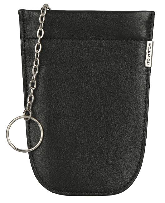 Ключница женская Leo Ventoni, цвет: черный. L330448L330448-neroЖенская ключница LEO VENTONI черного цвета. Внутри: одно отделение и одно кольцо для ключа. Закрывается на скрытый рамочный замок.