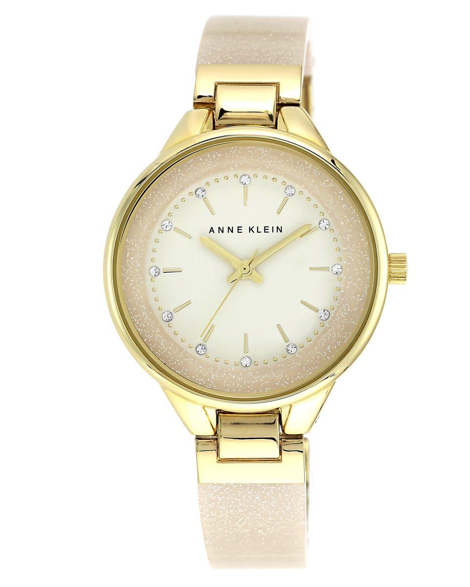 Наручные часы женские Anne Klein, цвет: золотистый, бежевый. 1408CRCR1408CRCRОригинальные и качественные часы Anne Klein