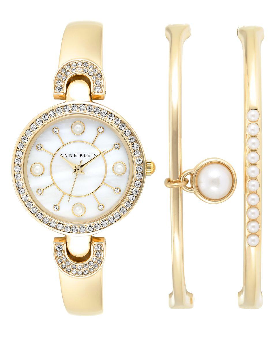 Наручные часы женские Anne Klein, цвет: золотистый. 1960GBST1960GBSTОригинальные и качественные часы Anne Klein