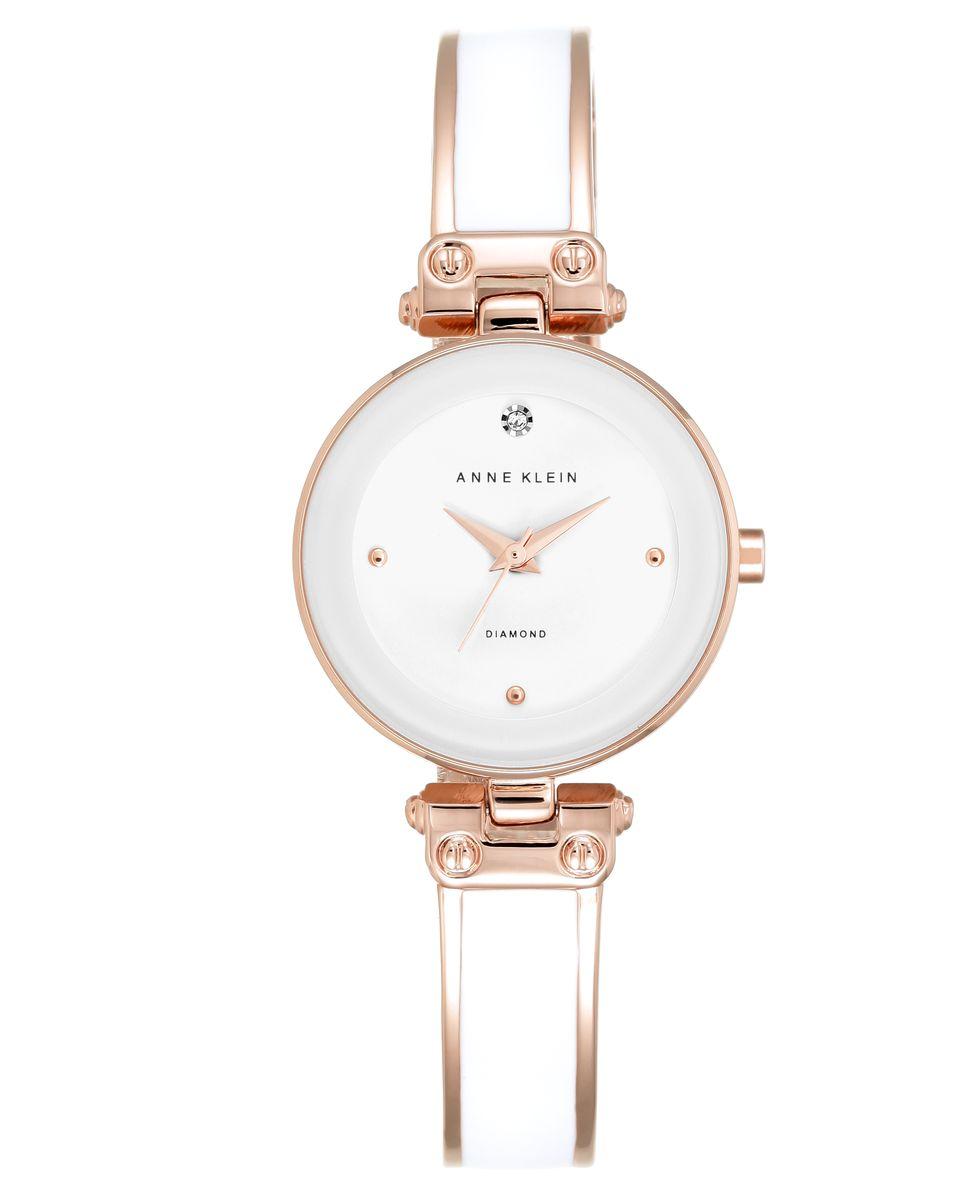 Наручные часы женские Anne Klein, цвет: золотистый, белый. 1980WTRG1980WTRGОригинальные и качественные часы Anne Klein
