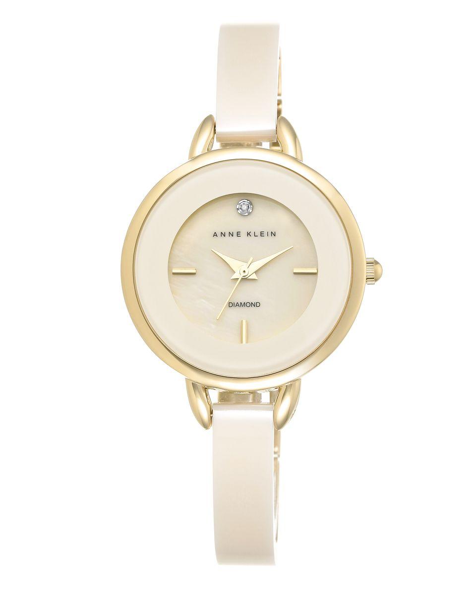 Наручные часы женские Anne Klein, цвет: золотистый, серый. 2132IVGB2132IVGBОригинальные и качественные часы Anne Klein