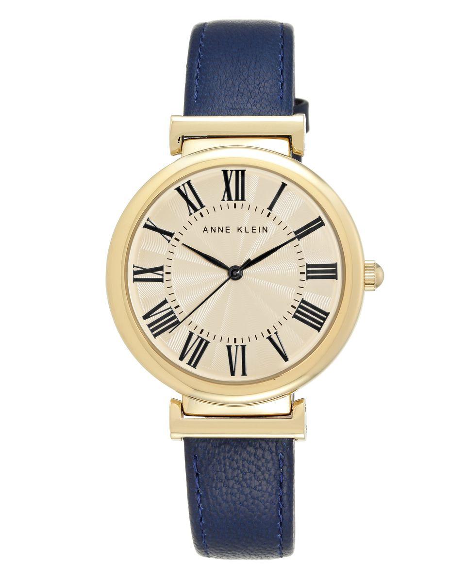 Наручные часы женские Anne Klein, цвет: золотистый, синий. 2136CRNV2136CRNVОригинальные и качественные часы Anne Klein