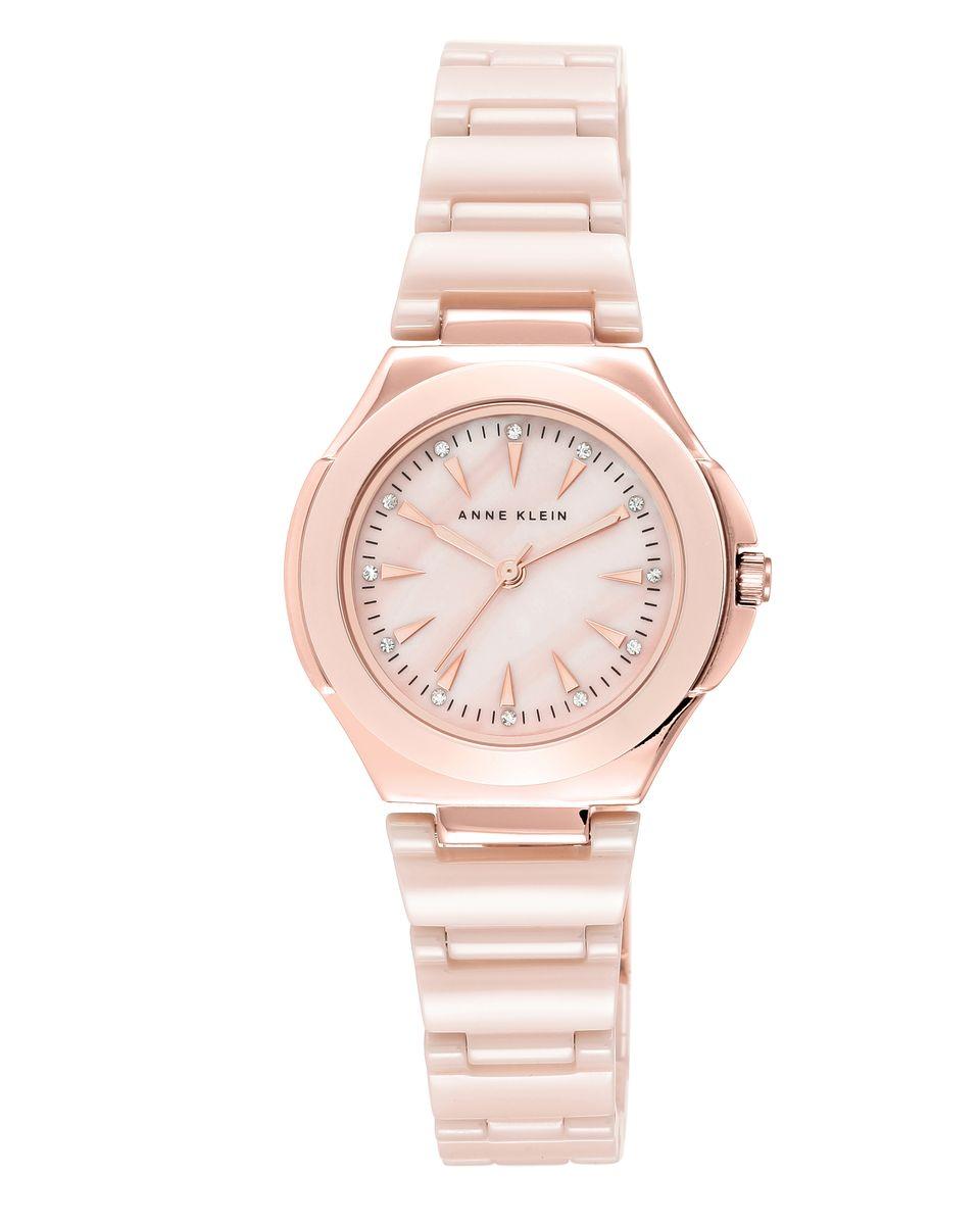 Наручные часы женские Anne Klein, цвет: золотистый, розовый. 2176RGLP2176RGLPОригинальные и качественные часы Anne Klein