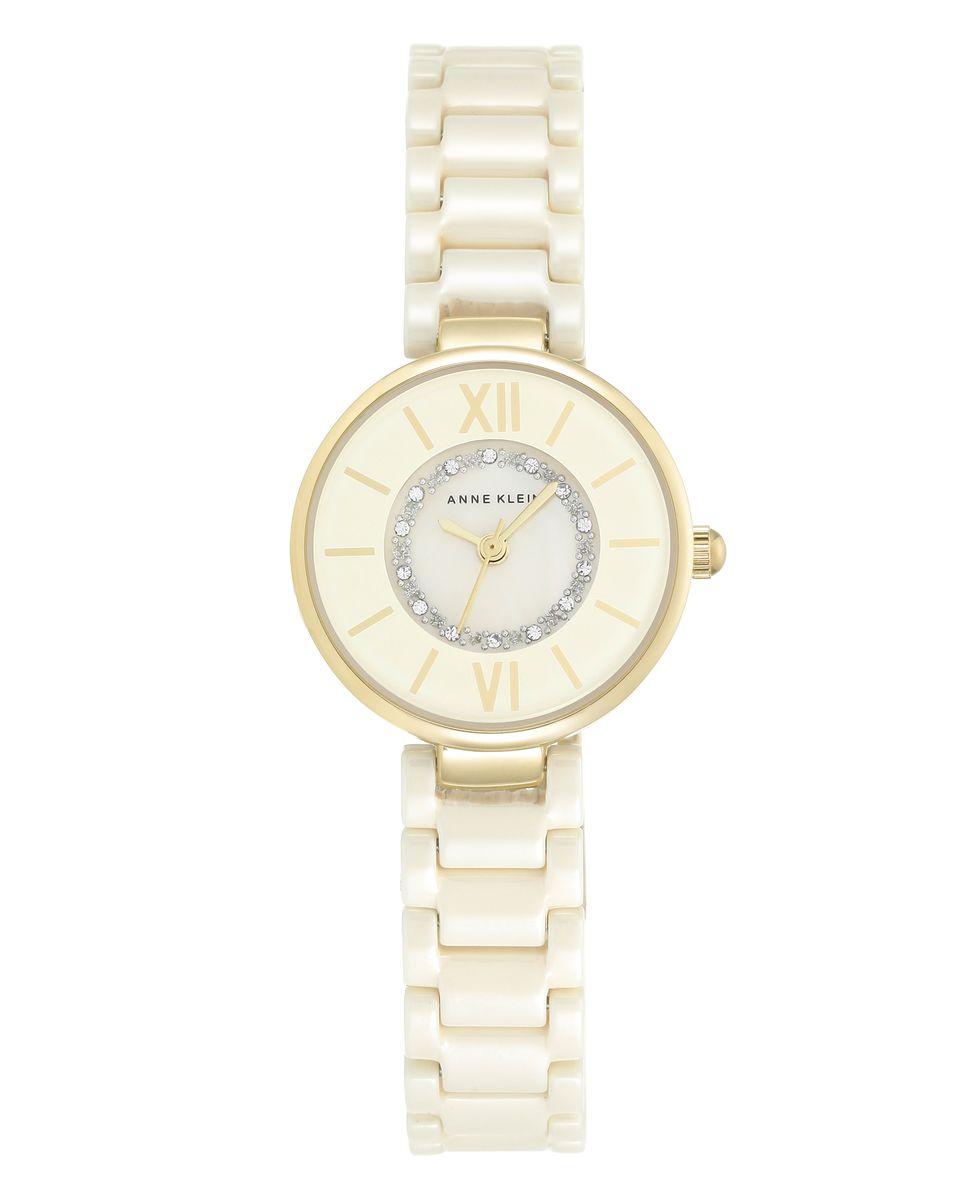 Наручные часы женские Anne Klein, цвет: золотистый, бежевый. 2178IVIV2178IVIVОригинальные и качественные часы Anne Klein