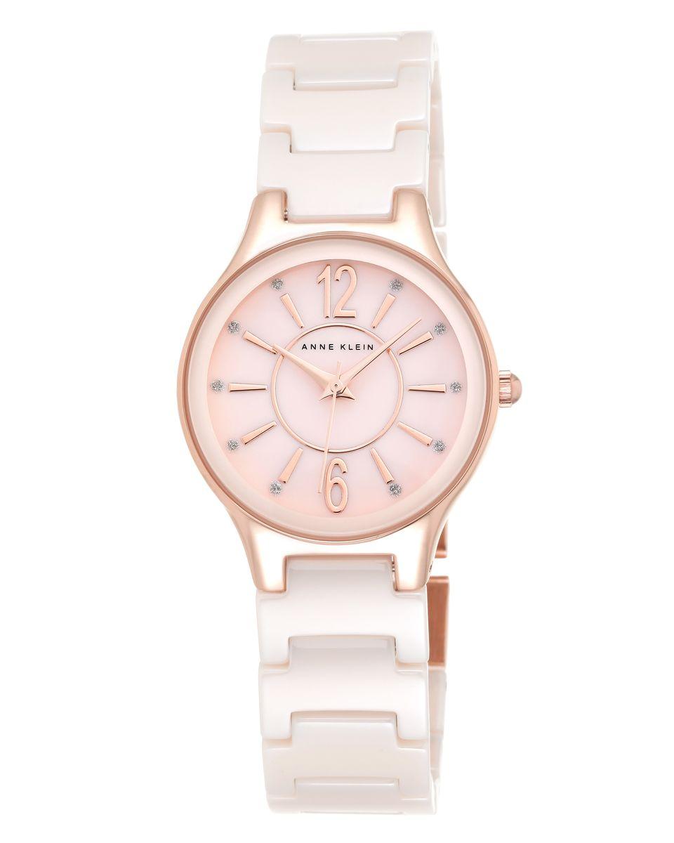 Наручные часы женские Anne Klein, цвет: золотистый, розовый. 2182RGLP2182RGLPОригинальные и качественные часы Anne Klein