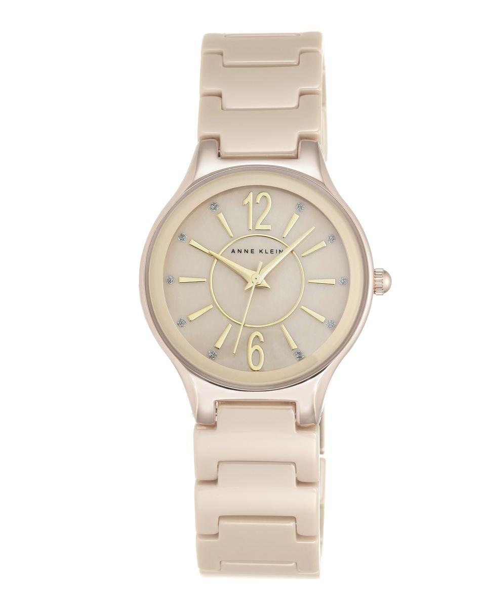 Наручные часы женские Anne Klein, цвет: золотистый, серый. 2182TNGB2182TNGBОригинальные и качественные часы Anne Klein