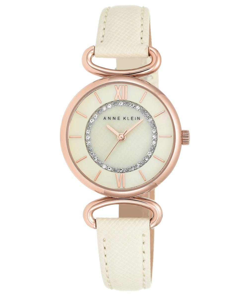 Наручные часы женские Anne Klein, цвет: золотистый, белый. 2192RGIV2192RGIVОригинальные и качественные часы Anne Klein