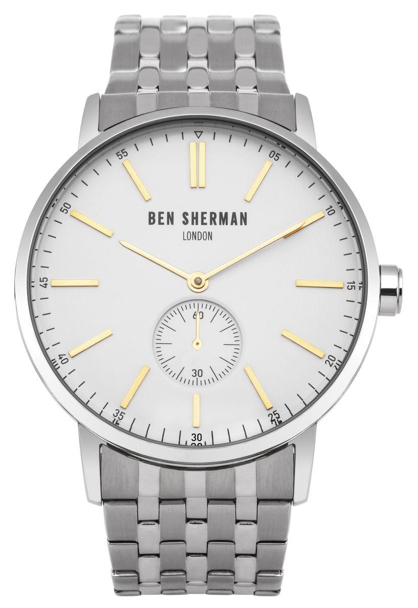 Наручные часы мужские Ben Sherman, цвет: серый металлик. WB032SMWB032SMДвухстрелочный механизм с вынесенной секундной стрелкой VD78; Нержавеющая сталь; Размар корпуса o 45mm; Минеральное стекло; Бледно серый циферблатБраслет; Водозащита 3 ATM
