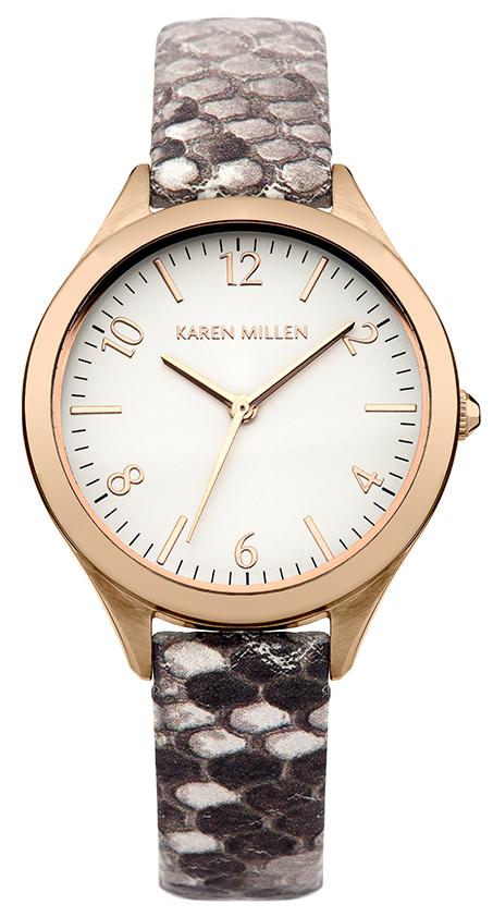 Наручные часы женские Karen Millen, цвет: золотой, серый. KM150TRG