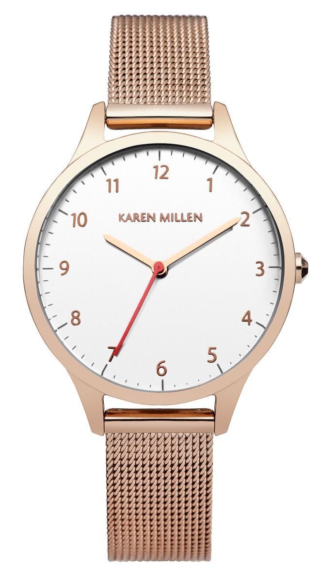 Наручные часы женские Karen Millen, цвет: золотой. KM118RGM