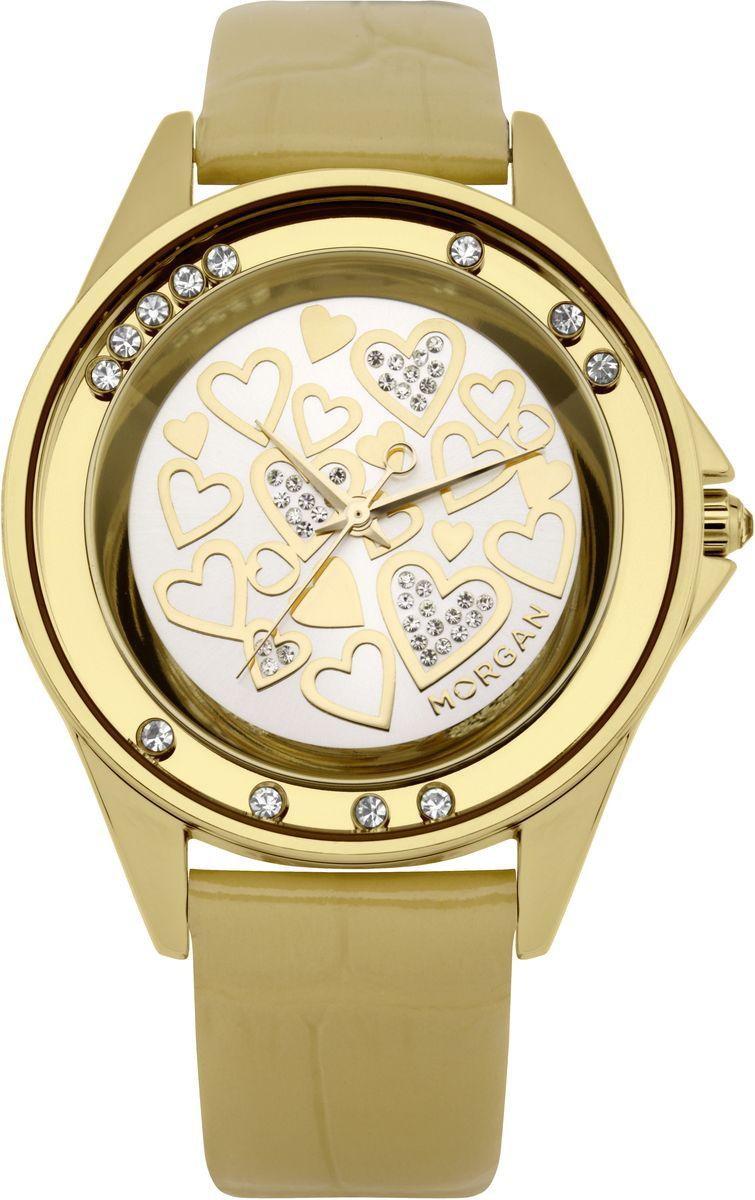 Наручные часы женские Morgan, цвет: золотой. M1136GBRM1136GBRТрехстрелочный механизм Miyota; Сталь; IP-покрытие цвета желтого золота; Полированный корпус; Плавающие кристаллы по безелю; Минеральное стекло; Зеркальный циферблат; Чешские кристаллы; Ремень из натуральной кожи золотого цвета; Водозащита 3 ATM