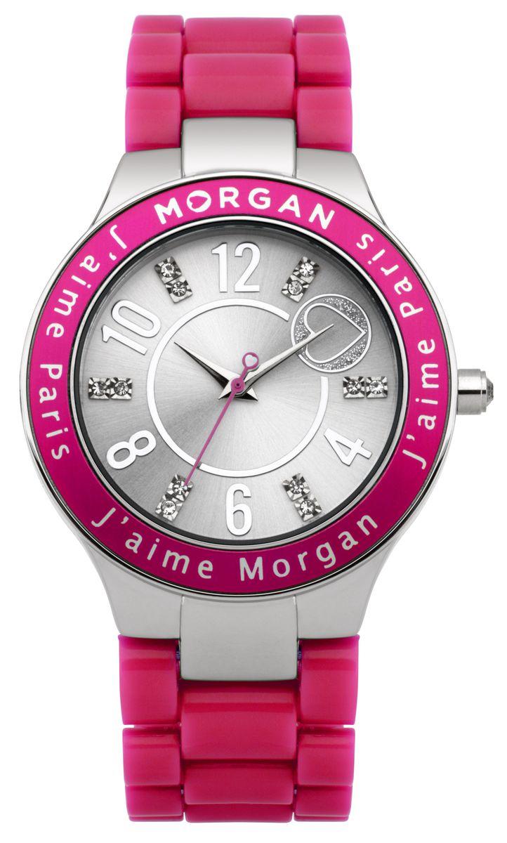 Наручные часы женские Morgan, цвет: розовый. M1146PM1146PТрехстрелочный механизм Miyota; Сталь; IP-покрытие розового цвета; Минеральное стекло; Стальной полированный циферблат; Чешские кристаллы; Браслет пластик; Водозащита 3 ATM