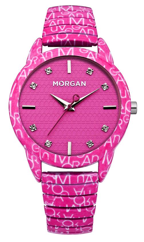 Наручные часы женские Morgan, цвет: розовый. M1171PM1171PТрехстрелочный механизм Miyota 2035; Сталь; Покрытие-эмаль розового цвета; Корпус 38x46мм; Минеральное стекло; Циферблат черного цвета;Чешские кристаллы; Металлический эластичный браслет с покрытием эмалью розового цвета;Водозащита 3 АТМ