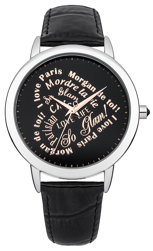 Наручные часы женские Morgan, цвет: серый металлик, черный. M1214BM1214BТрехстрелочный механизм Miyota PC21J; IP Silver покрытие; Размер корпуса: 38 mm; Минеральное стекло; Черный циферблат; Чешские кристаллы; Ремень из натуральной кожи черного цвета; Водозащита 3 ATM