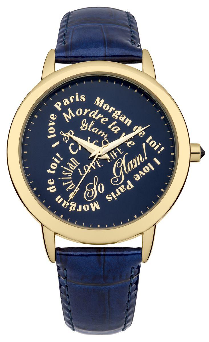 Наручные часы женские Morgan, цвет: золотой, синий. M1214UGM1214UGТрехстрелочный механизм Miyota PC21J; IP Silver покрытие; Размер корпуса: 38 mm; Минеральное стекло; Синий циферблат; Чешские кристаллы; Ремень из натуральной кожи синего цвета; Водозащита 3 ATM
