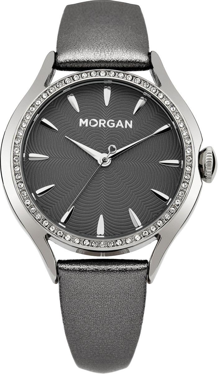 Наручные часы женские Morgan, цвет: серый металлик, серый. M1235BM1235BТрехстрелочный механизм Mioyta PC21J; Металл IPS покрытие; Размер корпуса: ? 36 mm; Минеральное стекло; Серый циферблат; Чешские кристаллы; Ремешок из натуральной кожи серого цвета; Водозащита 3 ATM