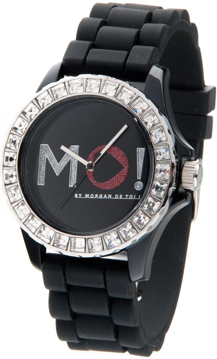 Наручные часы женские Morgan, цвет: черный. M1120BM1120BТрехстрелочный механизм; Сталь; Корпус пластик красного цвета; Минеральное стекло; Циферблат белого цвета; Чешские кристаллы; Браслет силикон; Водозащита 3 ATM