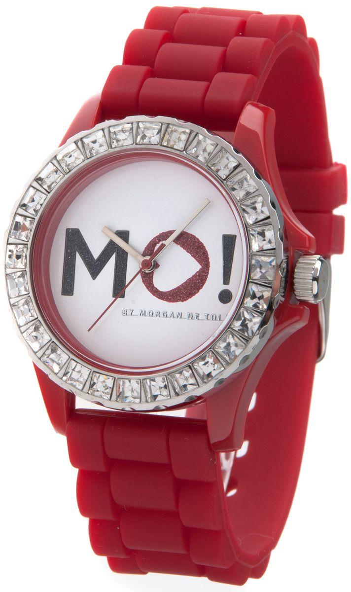 Наручные часы женские Morgan, цвет: красный. M1120RM1120RТрехстрелочный механизм; Сталь; Корпус пластик красного цвета; Минеральное стекло; Циферблат белого цвета; Чешские кристаллы; Браслет силикон; Водозащита 3 ATM