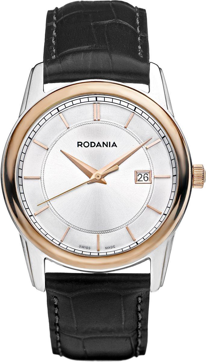 Наручные часы мужские Rodania, цвет: золотистый, черный. 25073232507323Оригинальные и качественные часы Rodania