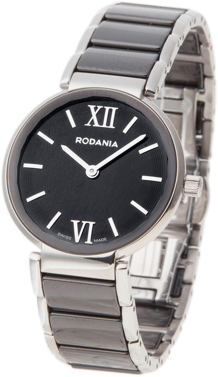 Наручные часы женские Rodania, цвет: серый металлик, черный. 25062462506246Оригинальные и качественные часы Rodania