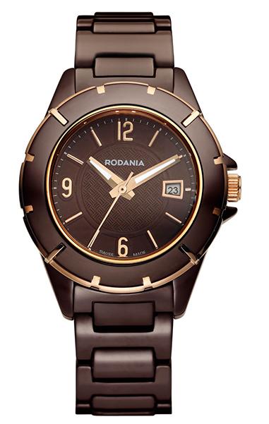 Наручные часы женские Rodania, цвет: коричневый, коричневый. 25085452508545Оригинальные и качественные часы Rodania