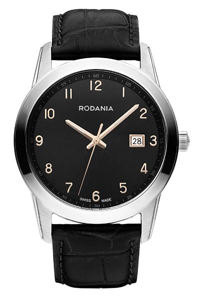 Наручные часы мужские Rodania, цвет: серый металлик, черный. 25104272510427Оригинальные и качественные часы Rodania