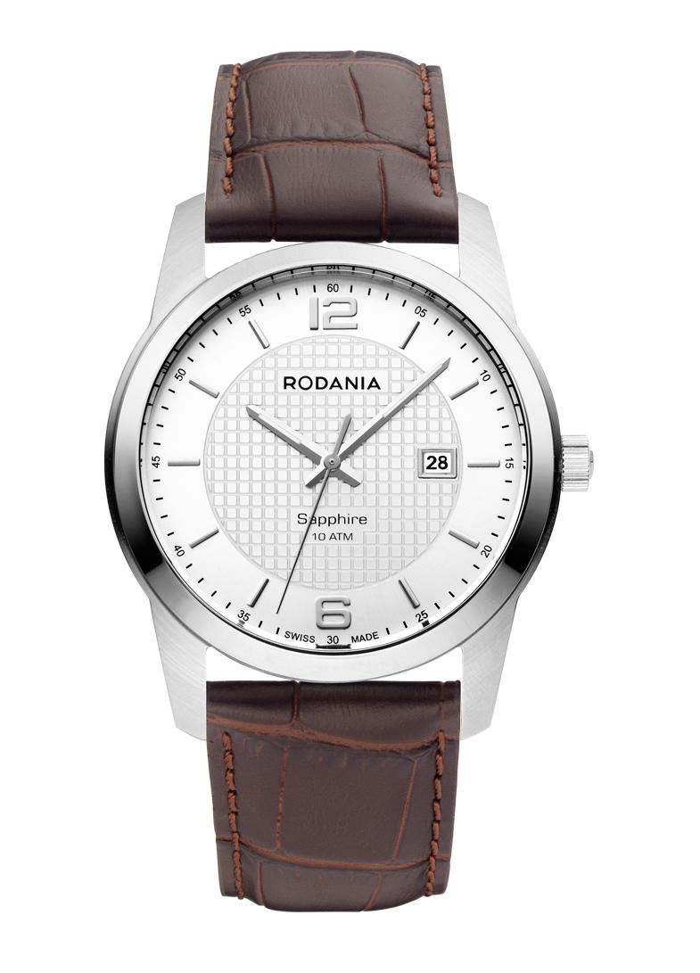 Наручные часы мужские Rodania, цвет: серый металлик, коричневый. 25110202511020Оригинальные и качественные часы Rodania