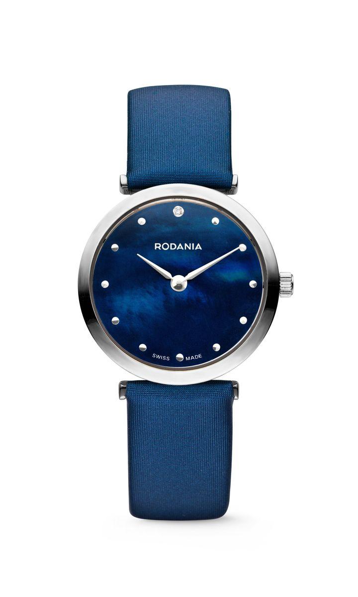 Наручные часы женские Rodania, цвет: серый металлик, синий. 25057292505729Оригинальные и качественные часы Rodania