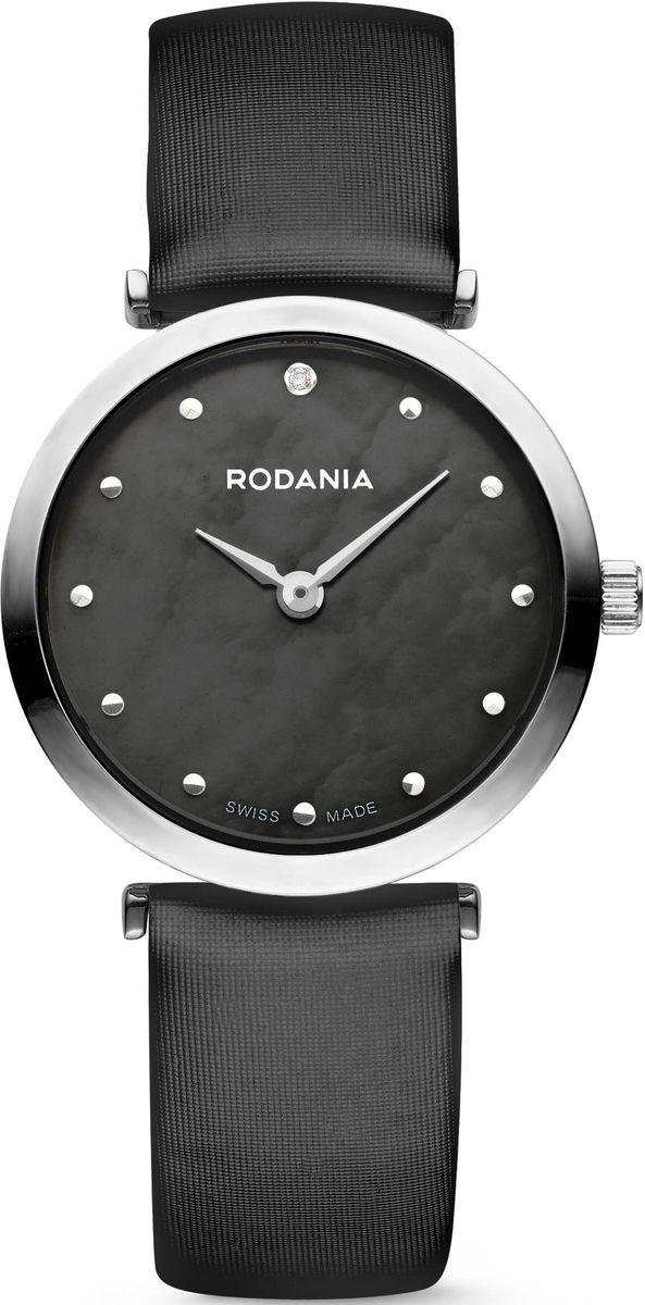 Наручные часы женские Rodania, цвет: серый металлик, черный. 25057262505726Оригинальные и качественные часы Rodania