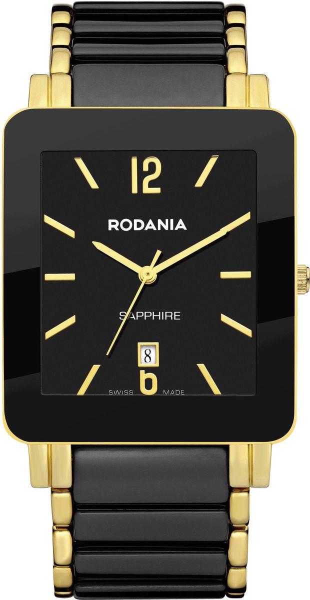 Наручные часы мужские Rodania, цвет: золотистый, черный. 25123662512366Оригинальные и качественные часы Rodania