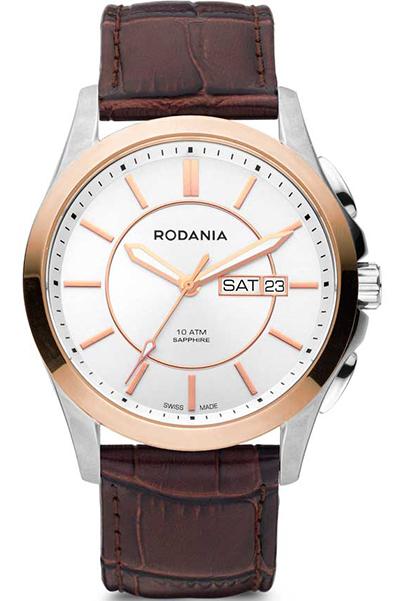 Наручные часы мужские Rodania, цвет: золотистый, коричневый. 25143232514323Оригинальные и качественные часы Rodania