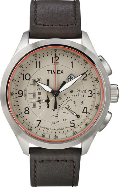 Наручные часы мужские Timex, цвет: серый металлик, коричневый. T2P275T2P275Оригинальные и качественные часы Timex