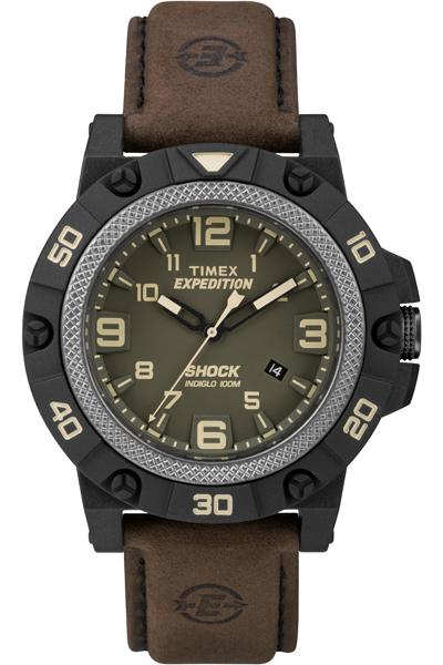 Наручные часы мужские Timex, цвет: зеленый, коричневый. TW4B01200