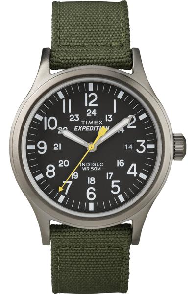 Наручные часы мужские Timex, цвет: серый металлик, зеленый. T49961