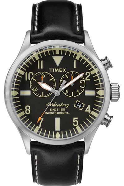 Наручные часы мужские Timex, цвет: серый металлик, черный. TW2P64900