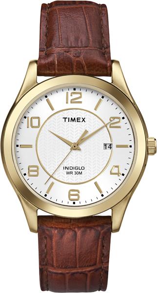 Наручные часы мужские Timex, цвет: золотистый, коричневый. T2P449T2P449Оригинальные и качественные часы Timex
