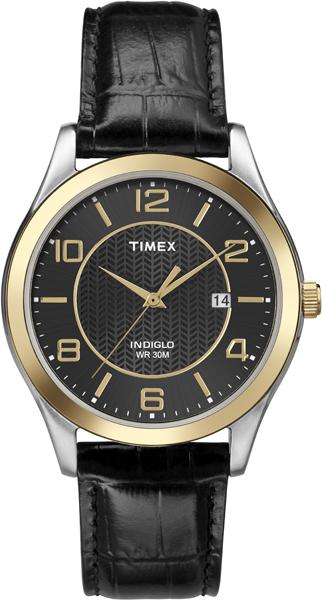 Наручные часы мужские Timex, цвет: золотистый, черный. T2P450
