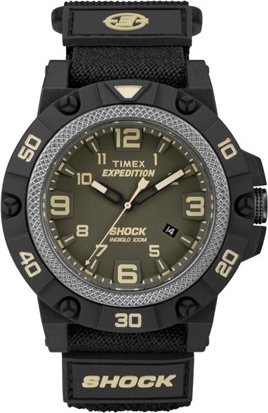 Наручные часы мужские Timex, цвет: зеленый, черный. TW4B00900