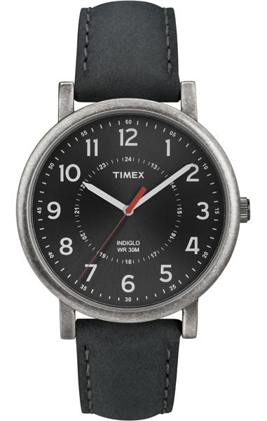 Наручные часы мужские Timex, цвет: серый металлик, черный. T2P219