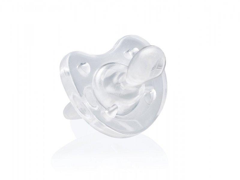 Chicco Пустышка Physio Soft силиконовая от 4 месяцев цвет прозрачный